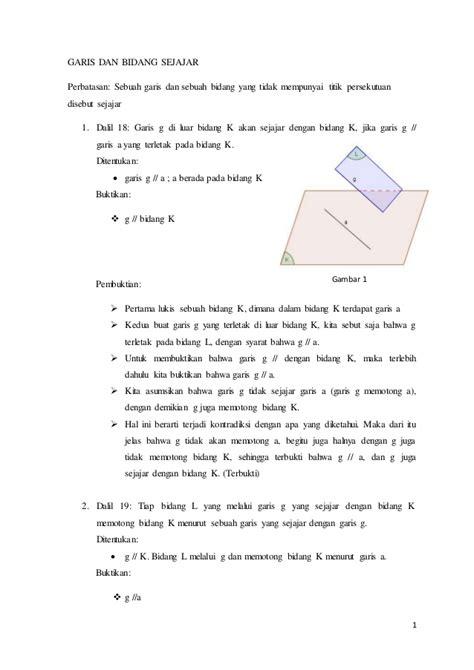 Geometri Bidang I Putu Wisna geometri ruang garis bidang sejajar perpotongan tiga buah bidang