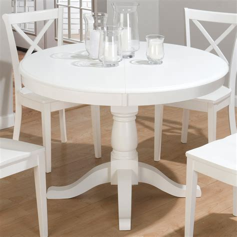white pedestal table with leaf diy painting white dining table the home redesign