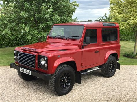 used land rover defender used firenze red land rover defender for sale essex