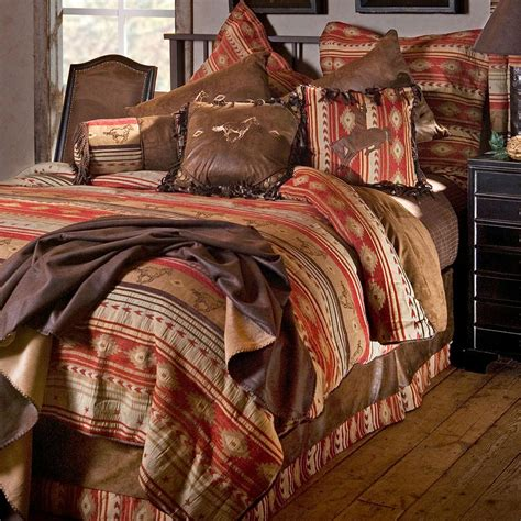 flying horses western comforter sets cabin place