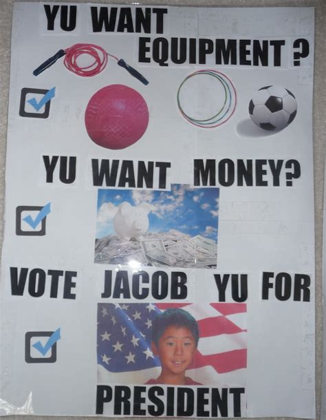 watch me grow student council treasurer campaign