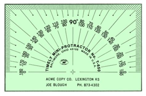 protractor print out for clinometer paper protractor template