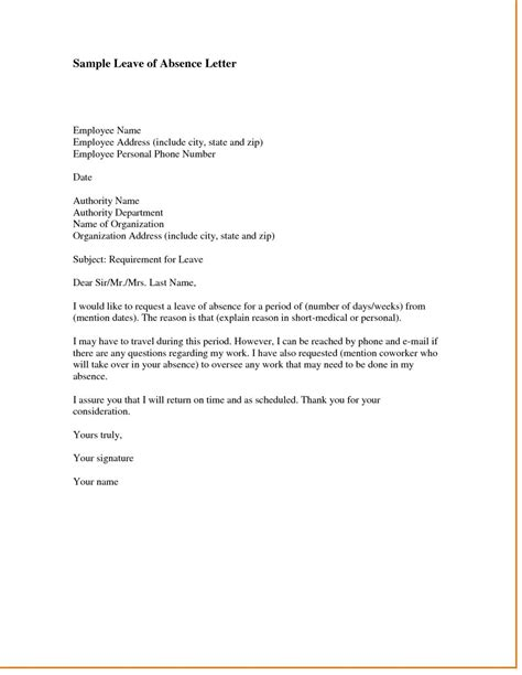 Offizieller Brief Franzoesisch sle letter requesting leave of absence due to family