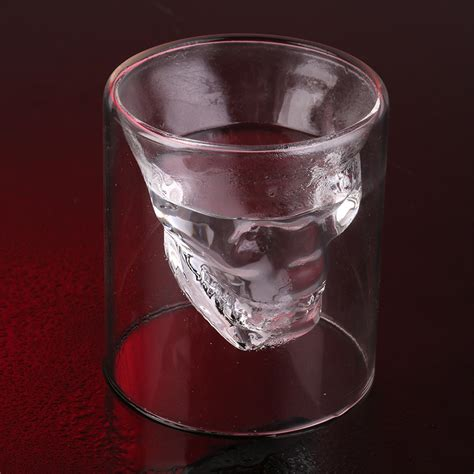 cool glassware magic cool clear skull head shot glass creative party wine