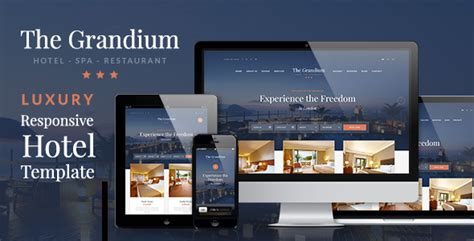 hotel theme themeforest grandium responsive wordpress hotel theme by ninetheme