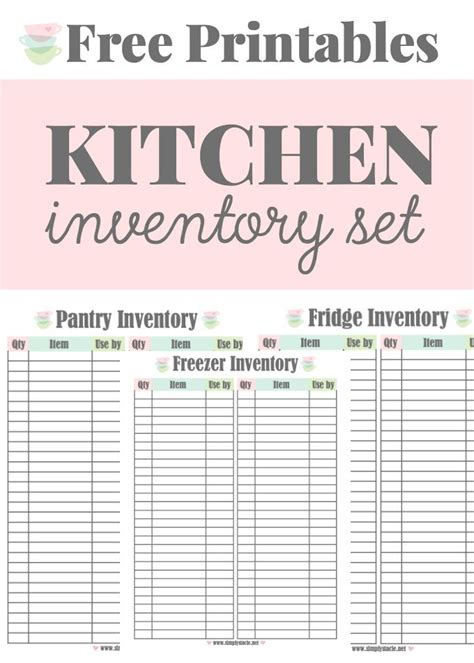 Pantry Inventory Software by 1000 Ideas About Freezer Inventory Printable On