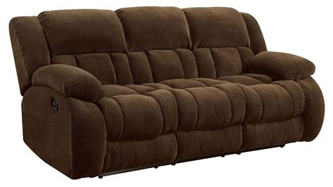 Recliner Sofas by Weissman Brown Reclining Sofa From Coaster 601924