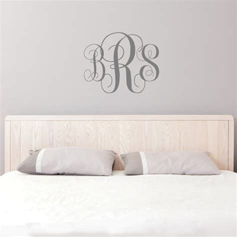 initial wall stickers monogram wall decal initial wall decal nursery decal personalized letters custom vinyl wall