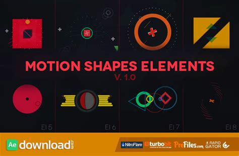 Motion Shapes Animated Elements Videohive Template Free Download Free After Effects After Effects Animation Templates Free