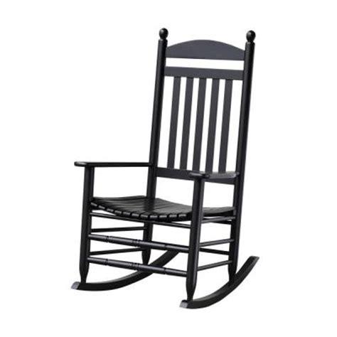 white outdoor rocking chair home depot bradley black slat patio rocking chair 200sbf rta the