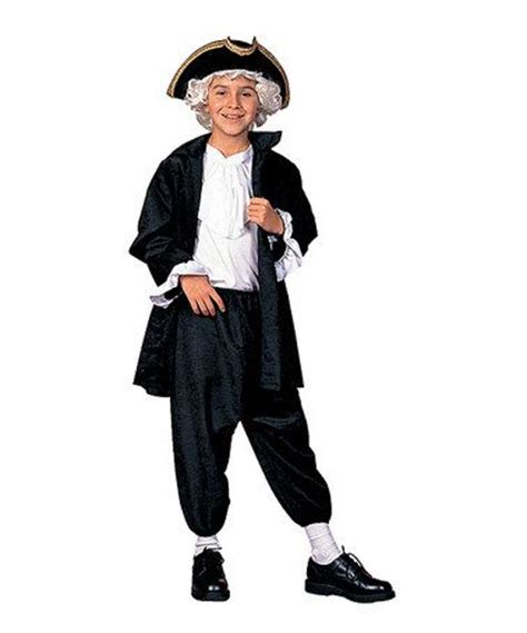 rg costumes black george washington dress  outfit boys