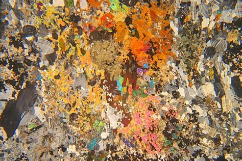 scapolite in thin section scapolite garnet meta syenite canada thin section