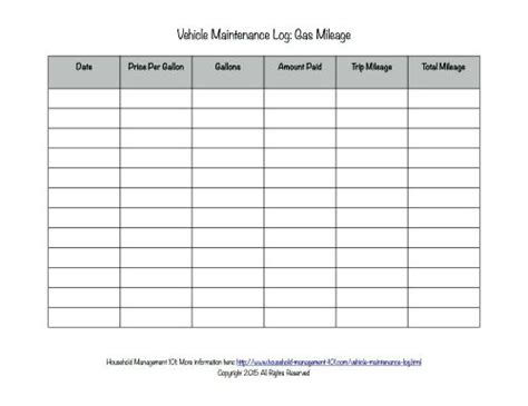 free printable vehicle maintenance log why you should