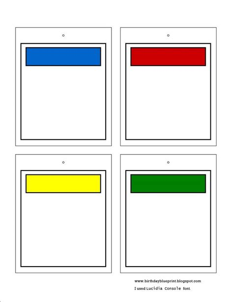 monopoly board template pin blank monopoly board template on