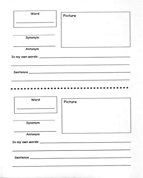 marzano 6 step vocabulary template marzano vocabulary template 28 images the gallery for