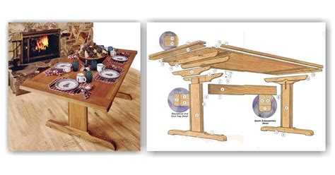 rock solid trestle table plans woodarchivist