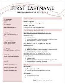 resume styles 2014