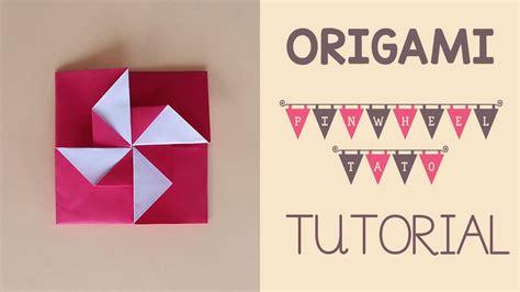 tutorial origami youtube origami pinwheel tato tutorial youtube