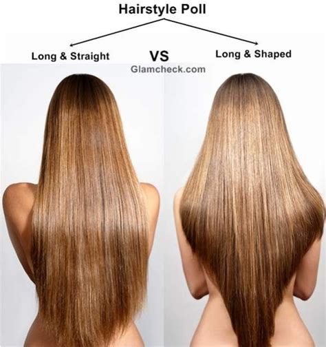 layering hair versus tapering hair hairstyle poll long and straight vs long and shaped