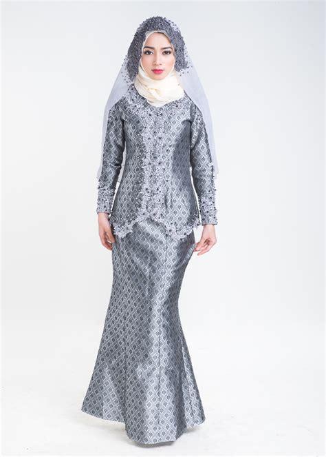 Baju Raya Sedondon Kelabu baju kurung moden nikah salomah grey