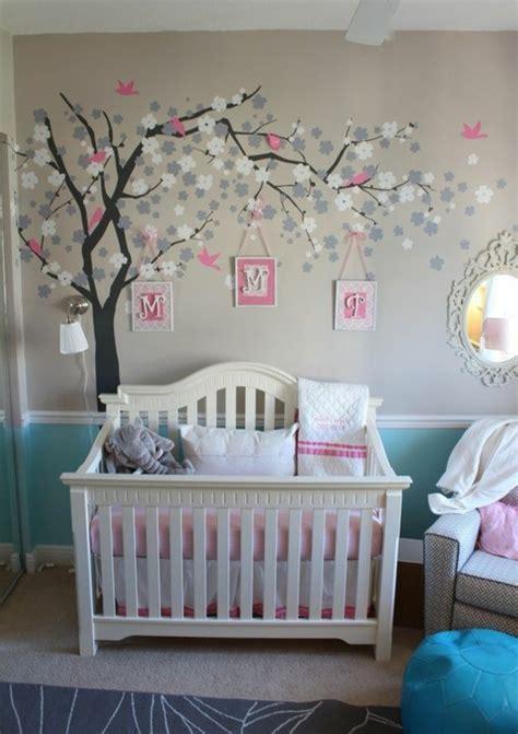 Excelente Habitaciones Decoradas Para Bebes #10: Babyzimmer-Dekoideen-Wandgestaltung.jpg