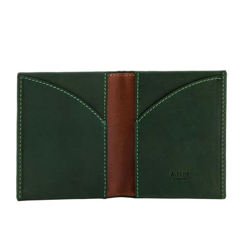 Origami Leather Wallet - a slim leather wallet origami green wallets