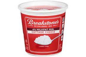 Breakstone Liveactive Cottage Cheese by Breakstone S Large Curd 4 Milkfat Min Cottage Cheese 24