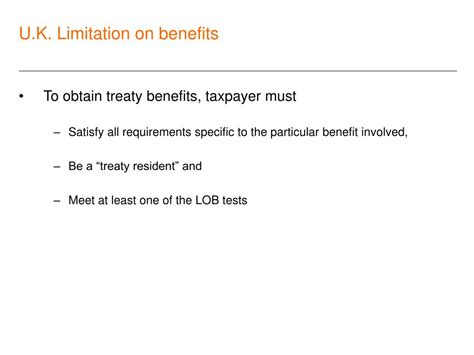 aba tax section ppt limitation of benefits provisions in tax treaties