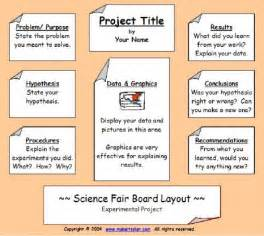 Science Fair Board Outline by Project Outline Sparta 4th Grade Science Fair Projects