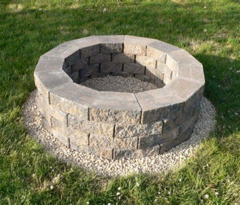 steps to build fire pit diy