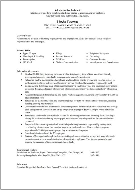 cover letter sles for receptionist administrative assistant 10 best best administrative assistant resume templates