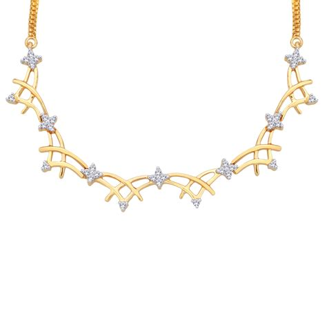 bridal gold necklace 1 02 ct certified