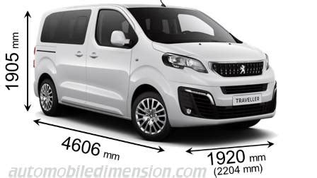 dimensions of peugeot cars showing length, width and height