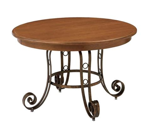 ironwood pedestal solid top dining table by keystone