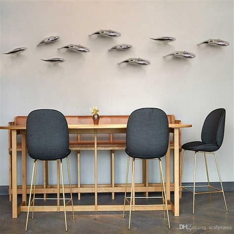 Handmade Metal Wall - 20 collection of stainless steel fish wall wall