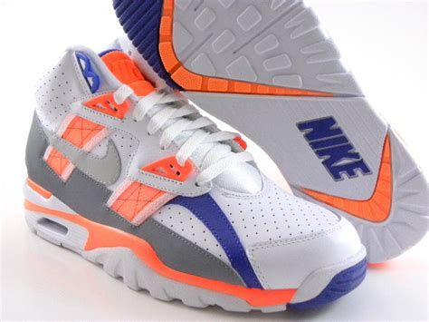 bo jackson basketball shoes nike trainer sc 2013 bo jackson white orange blue auburn