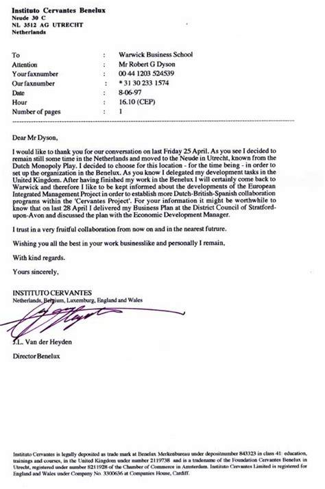 business letter best regards or sincerely dinsdag 10 juli 2012 nieuwe directiewisseling bij de baak