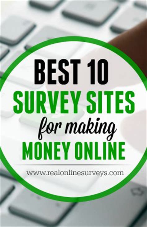 Survey Money Websites - best 10 paid survey sites for making money online