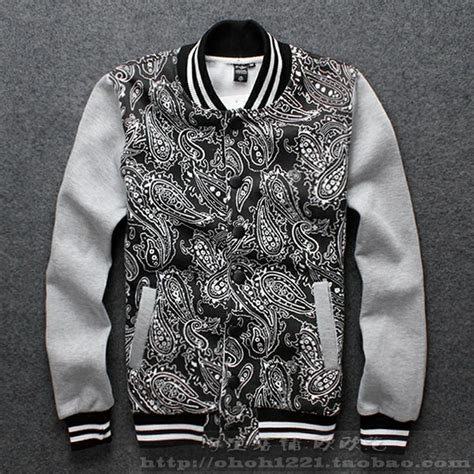 black and white print clothes new fashion autumn and winter baseball casual s clothing
