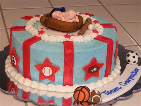 Sports Baby Shower Cakes by Sports Baby Shower Cake Creations