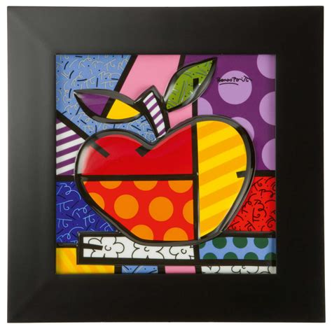 Romero Britto Porcelain Picture BIG APPLE 451097 Online Shop
