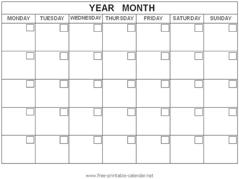 blank activity calendar template calendar picture templates