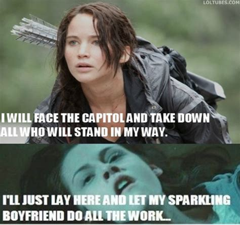 Twilight Funny Memes - hunger games vs twilight jokes memes pictures