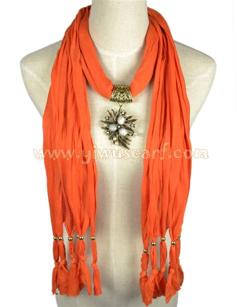 leaves jewelry scarves wholesale pendant scarf china scarf