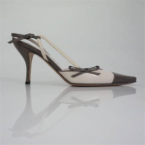 Sandal Selop Vogue Creme chanel creme and taupe slingback heels 37 5 for sale at 1stdibs
