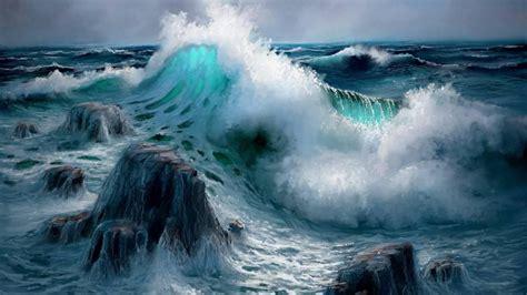 ocean waves crashing wallpapers ocean waves crashing