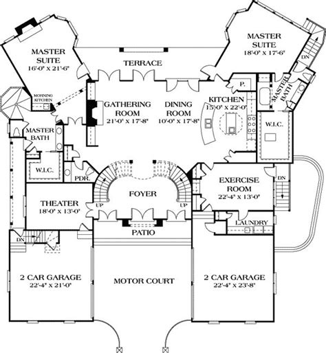 One Story Floor Plans With Two Master Suites 44 Best Dual Master Suites House Plans Images On Pinterest House Floor Plans Design Homes And
