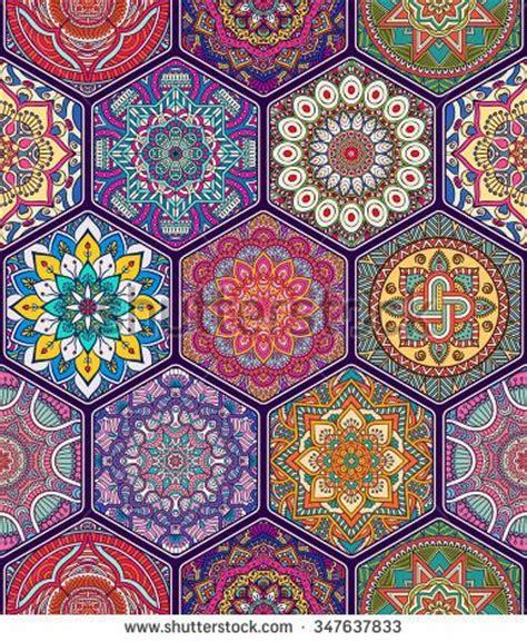 seamless pattern indian seamless pattern vintage decorative elements hand drawn