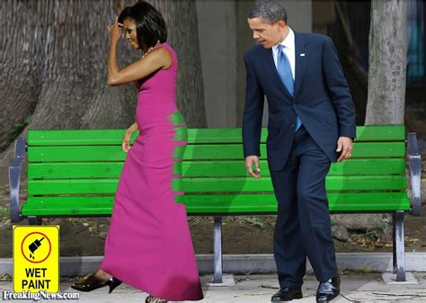 the bench com michelle obama sat in wet paint pictures freaking news