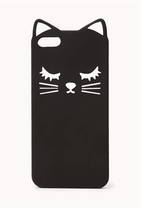 Casing Iphone X Black Cat Hardcase Custom Cover forever 21 cool cat phone in black lyst